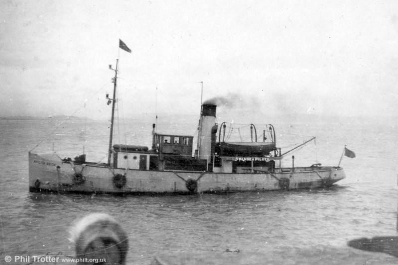 During her 34 years service in Swansea, the pilot cutter 'Roger Beck' went alongside more than 115,000 vessels to transfer pilots.<br /> Replacing the 'Beaufort' which served the port for 26 years, the 'Roger Beck' - named after the chairman of Swansea Harbour Trust - went into commission on New Year's Day 1925. She was to spend 95% of her lifetime on station.<br /> During the Second World War, the 95ft cutter also took on the role of a naval examination vessel and flew the blue ensign. She was concerned in the salvage of a considerable number of vessels which suffered from enemy action.<br /> The 'Roger Beck', whose triple expansion oil-burning engines of 330hp gave her a speed of more than 10 knots, was sold off in October 1959 and was later broken up.