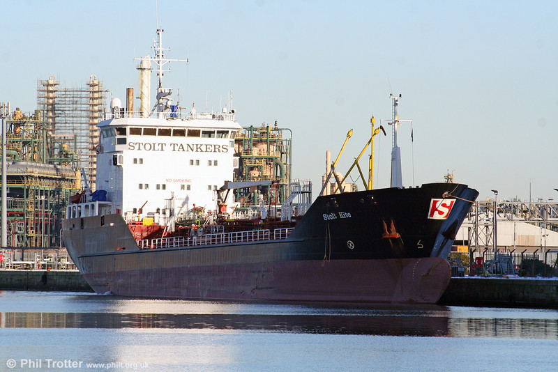 MV 'Stolt Kite', one of Stolt-Neilsen's Inter Europe Services fleet which had arrived at Barry Docks from Le Havre earlier on 7th January 2010.