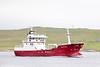 The Norwegian registered fish carrier Gerda Saele seen leaving Lerwick, Shetland on 11th July 2013.