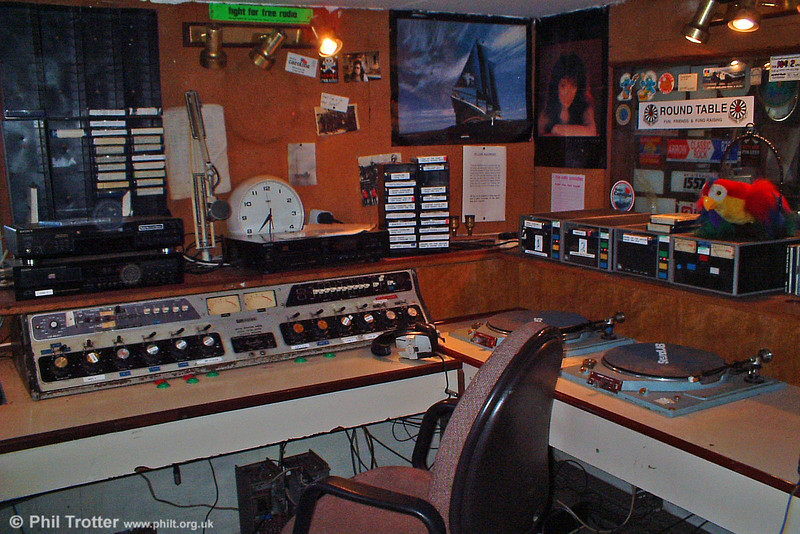 Main Caroline studio. This room was the ship's hospital when it was a trawler.