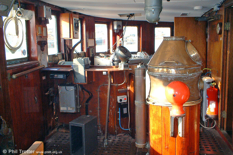 The bridge. The ship has a maximum speed of 16 knots (18.4mph).