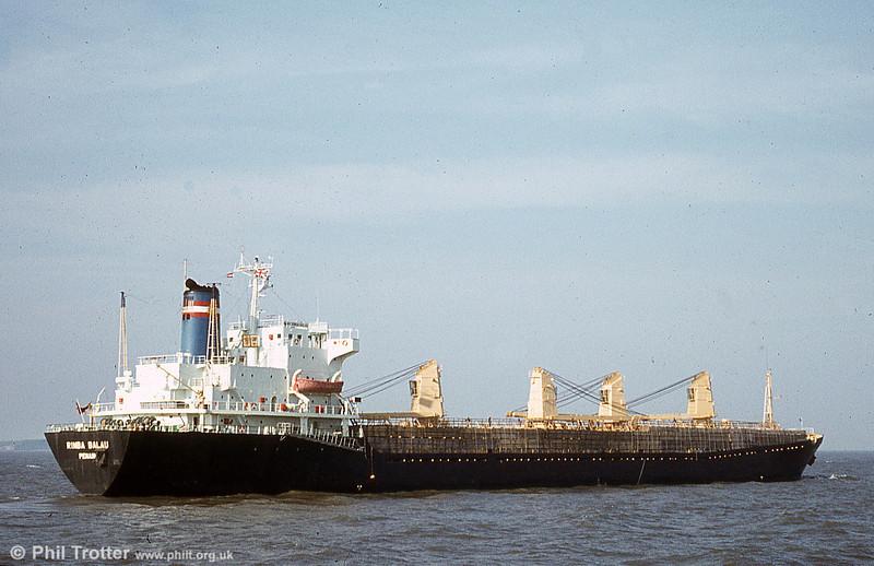 MV Rimba Balau at anchor in the Bristol Channel.