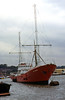 Another view of the Radio Caroline ship 'Ross Revenge' moored at Chatham, July 1996.