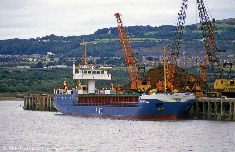 The coaster 'Rheintal' seen at Briton Ferry. The ship was later renamed 'Amstelborg'.