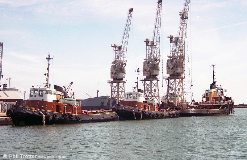 Port of Swansea tugs, Alexandra, Herculaneum and Mumbles.
