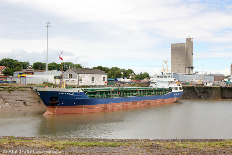 MV Monika Müller waiting to sail from Sharpness for Santander on 7th June 2014.
