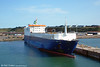 The Rosslare to Cherbourg ferry service has been reinstated after the O'Flaherty brothers purchased the MV Diplomat from P&O. P&O has been contracted to operate and staff the Diplomat as part of the agreement. The vessel sails three times a week (Tuesdays, Thursdays and Saturdays) and can accommodate 85 articulated trucks and 114 passengers. It has also been licensed to carry livestock. The ship was photographed at Rosslare on 8th August 2005.