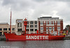 Built in 1947/8 by Forges et Chantiers de la Méditerranée at Graville (Havre), the former Sandettie lightship was launched in 1949 with the name BF 6 (Bateau-Feu 6). Taken out of service in 1989, this was the last lightship to be used in French waters. Seen at Dunkerque on 7th September 2008.
