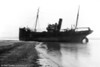 The Tenby Castle aground; ther details unknown. Was this off Porthcawl? The ship is Swansea Registered SA89.