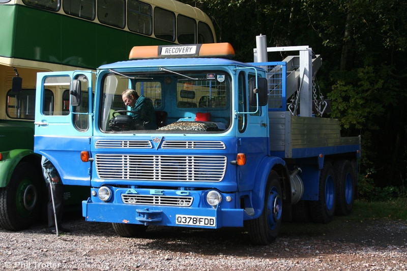 1968 AEC Mammoth Major recovery truck Q378 FDD at the Dean Forest Railway, 9th October 2005.