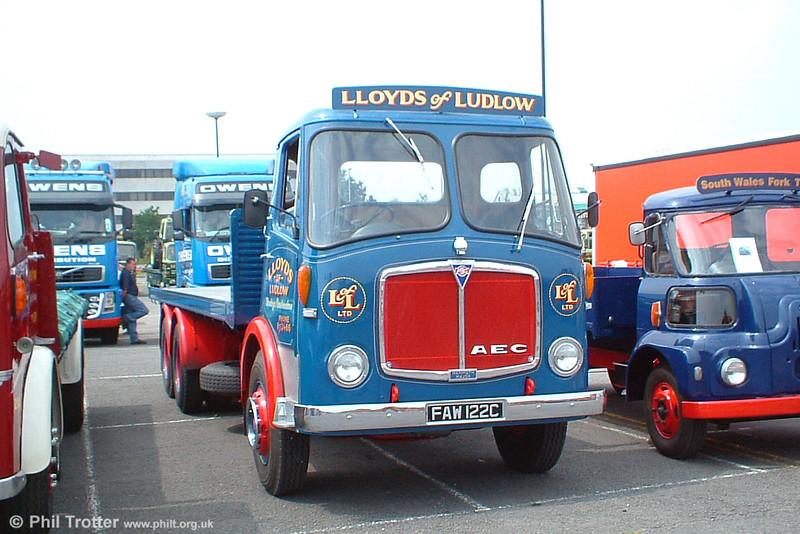 Displaying the livery of Lloyds of Ludlow is FAW 122C, a wonderfully restored AEC Mammoth Major at Swansea Festival of Transport, 19th June 2005.