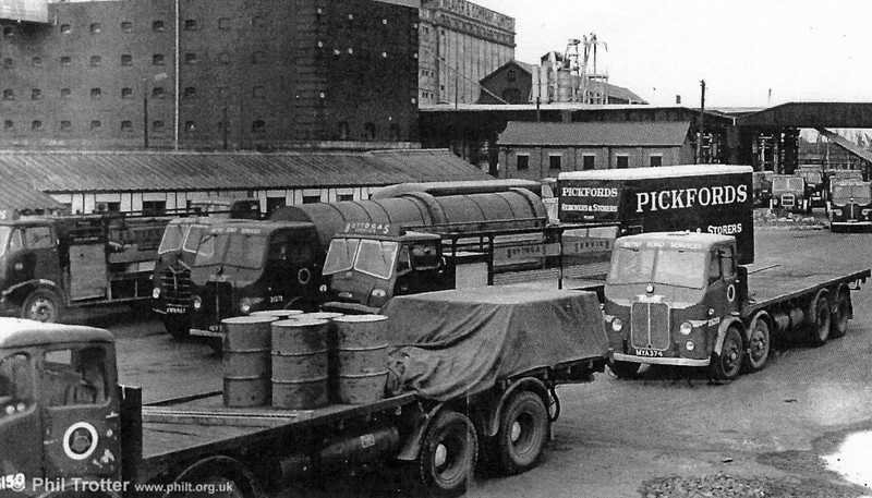 A 1950s view of the BRS North Dock, Swansea depot.