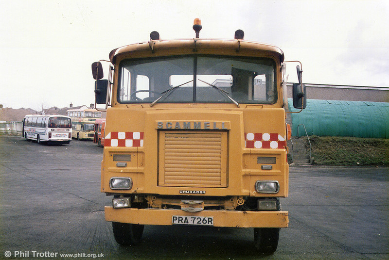 Bristol Omnibus had this lengthened 1976 Scammell Crusader, PRA 726R as a wrecker based at Lawrence Hill, but seen here in Swansea.