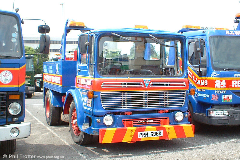 PRN 596K is an AEC Mandator recovery vehicle owned by R. T. Williams of Merthyr Tydfil and is seen on display at Swansea Festival of Transport, 19th June 2005.