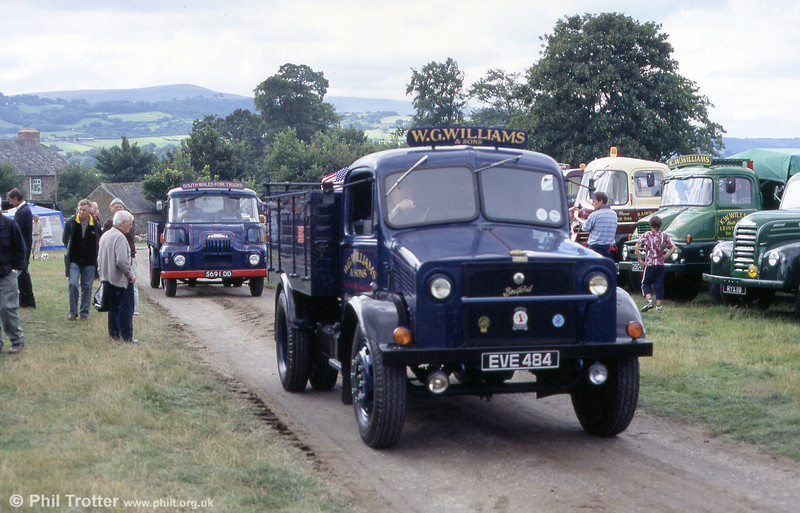 1945 Bedford OWST 28hp Tipper EVE 484 at Three Cocks Vintage Rally, Hay on Wye, 14th August 2005.