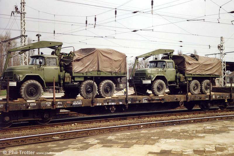 More Soviet ZIL 131 trucks. What's Russian for HiAb?