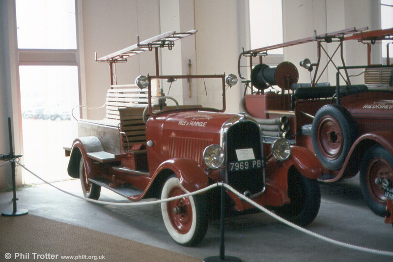 A vintage appliance on display at the Musee du Sapeur-Pompier de Mulhouse.