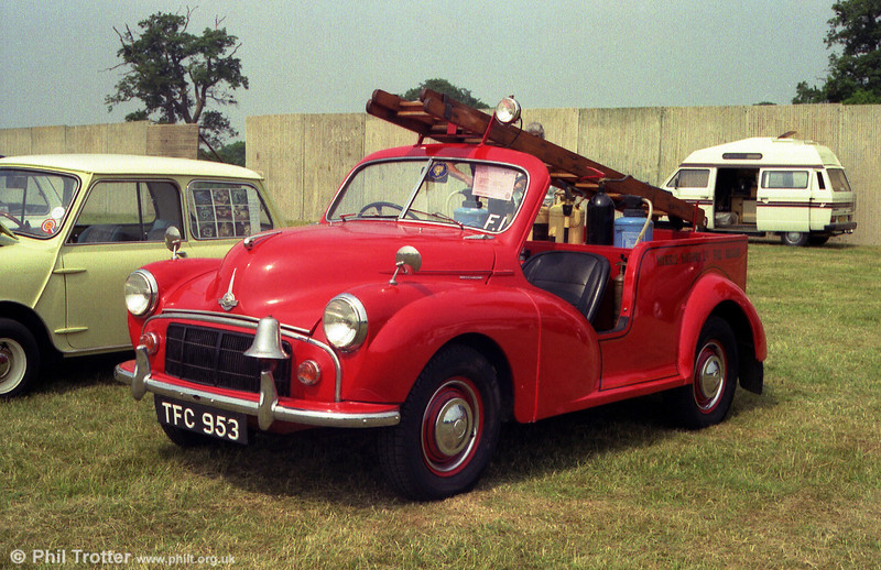 TFC 953, the former Morris Motors works fire engine, built in 1952 and based on an early Traveller chassis.