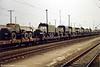 Soviet trucks leaving the former DDR, near Leipzig.