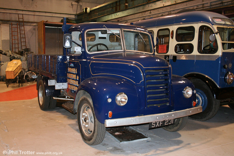 Swansea Museum uses this 1958 Ford Thames lorry SXF 231 as its runabout, as seen on 14th July 2010.