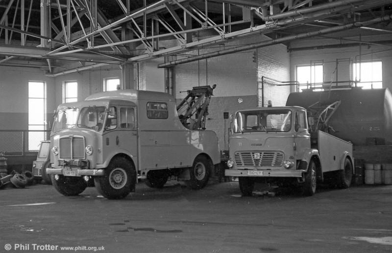 SWT's AEC Matador and Leyland Mastiff recovery trucks.