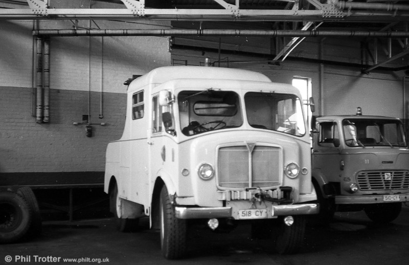 In 1957-8, SWT rebuilt this former military AEC Matador as recovery truck 1, running on trade plates 518 CY. The vehicle remained in the fleet until the early 1980s.