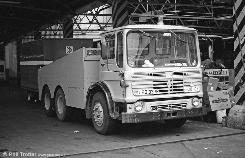 SWT's AEC Mammoth Major recovery truck 6 (LPO 337R), reportedly a former aircraft refueller.