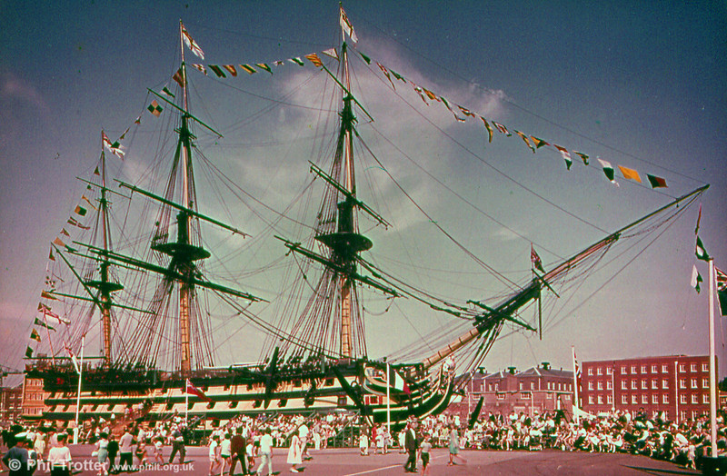HMS Victory at Portsmouth.