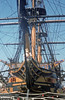 Nelson's flagship HMS Victory at Portsmouth.