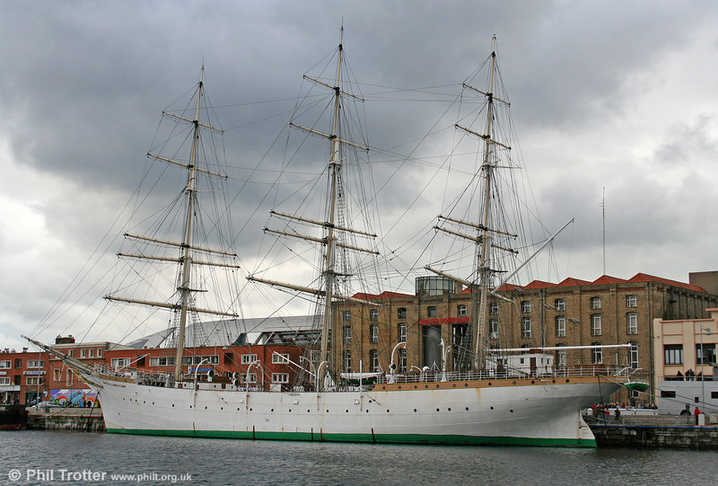 'Duchesse Anne', a German 3-masted sail-training ship built in 1901 and given to France after WW2 as reparations for war damage. It was rescued and restored by the city of Dunkerque in 1980. Photographed on 7th September 2008.