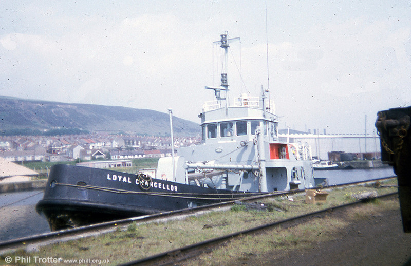 Royal Navy Loyal Class Tender A1770 'Loyal Chancellor' at Swansea in 1974