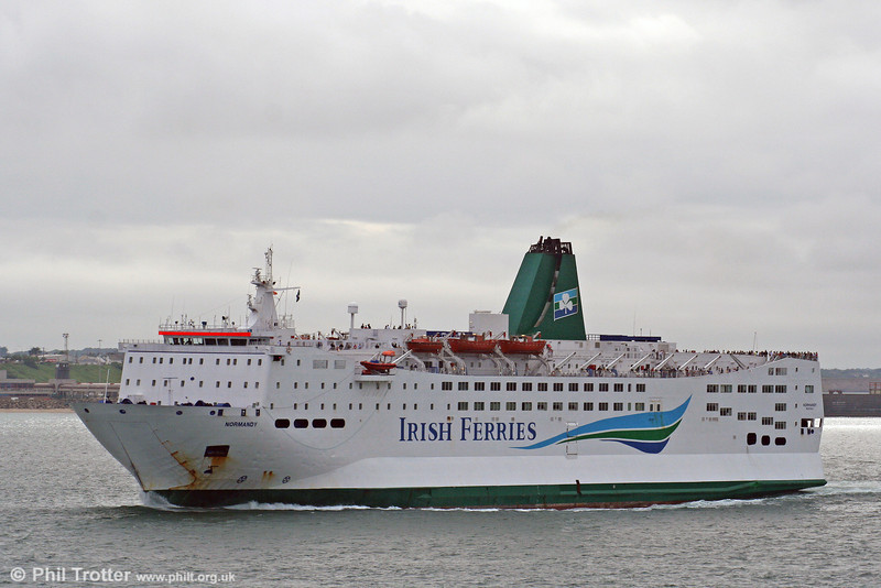 Irish Ferries 'MV Normandy' leaves Rosslare on the overnight sailing for Roscoff on 28th July 2006.