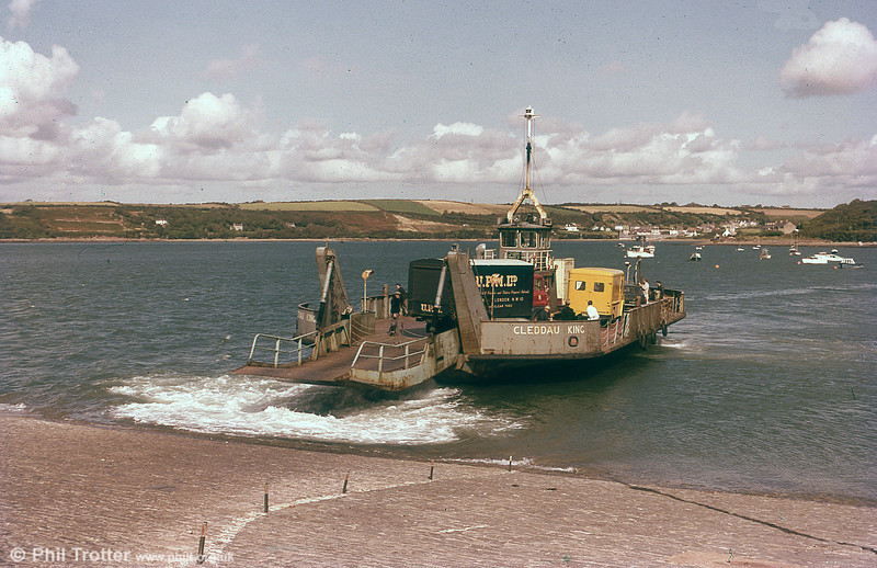 One of the two Neyland to Pembroke Dock ferries, 'Cleddau King' and 'Cleddau Queen' which were both built in Pembroke Dock at Hancock's Yard, and operated until the Cleddau Bridge opened in 1975.