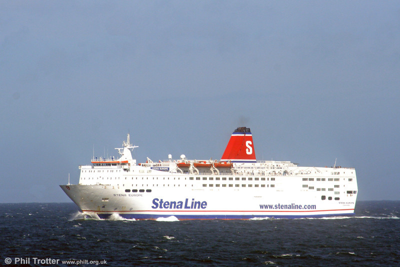 Stena Line's 'Stena Europe' in the Irish Sea on 31st July 2006 with the afternoon sailing from Fishguard to Rosslare.