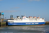 A stern view of MV Superferry at Swansea on 2nd April 2006.