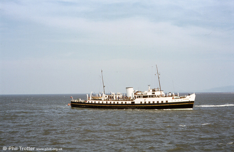 MV Balmoral in its correct White Funnel livery. Balmoral was built in Southampton in 1949 and operated under the Southampton Red Funnel Fleet for 20 years. She then moved round to the Bristol Channel where she became the last member of P&A Campbell's famous White Funnel Fleet.