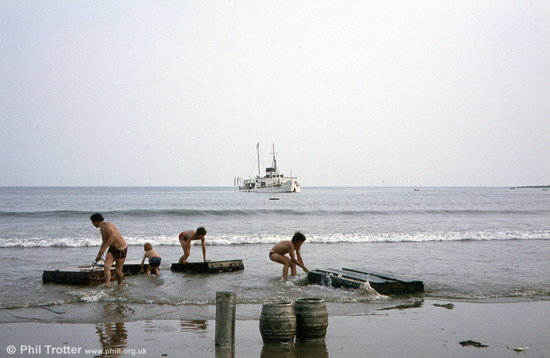 Many of the items drifting ashore were played with by local visitors, or kept as souvenirs.