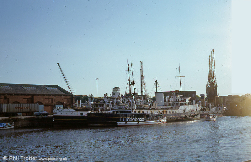 Down time. MV Balmoral and MV Devonia laid up at Bristol Docks.