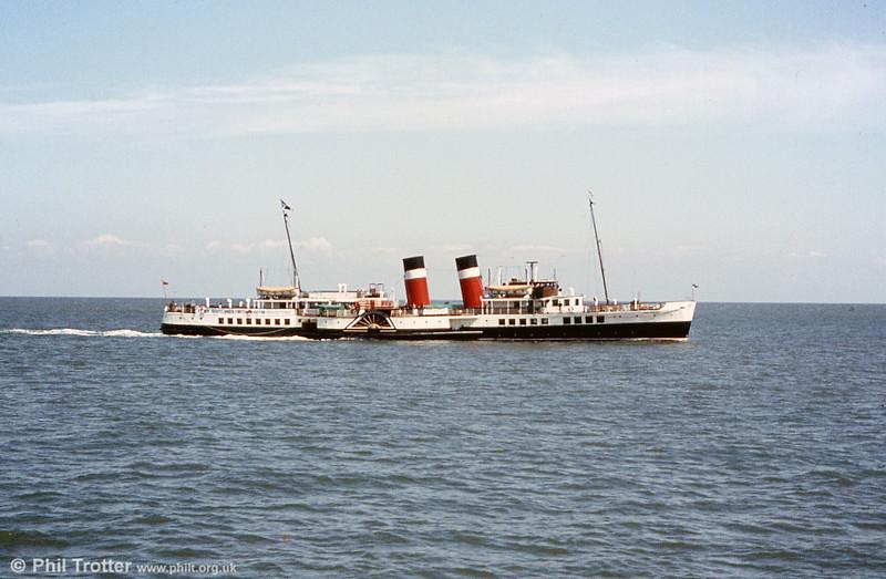 PS Waverley at sea.