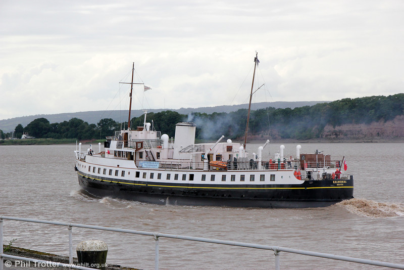 Free at last! MV Balmoral heads into the River Severn at Sharpness, en route for Avonmouth and Bristol on 7th June 2014.