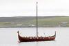 A traditional style Viking ship seen at Lerwick, Shetland on 11th July 2013.