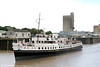 MV Balmoral in the Tidal Basin, departing from Sharpness Docks on 7th June 2014.