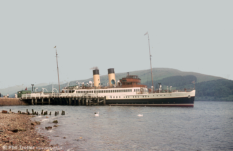A commercial view of what is believed to be the Caledonian Steam Packet Co. Ltd's TS Duchess of Hamilton. It was built by Harland & Wolff, Glasgow in 1932. In the post war years she operated from Gourock to Campbeltown and later to Ayr, Arran and Inverary until 1970.