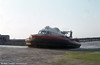 Hovertravel started their cross Solent services, Ryde to Southsea and Ryde to Stokes Bay (near Gosport) in 1966 using SRN6 hovercraft. This example is seen at Ryde.