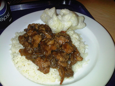 "Sweet & Sour Pork, Served in ""Wings Cafe"" in RAF Hendon  24/10/12"
