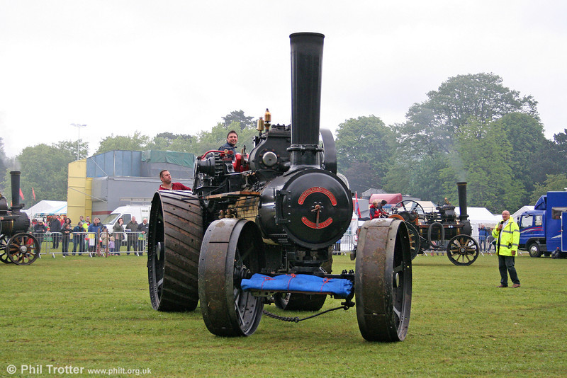 A massive John Fowler ploughing engine on the move at Abergavenny on 30th May 2011.