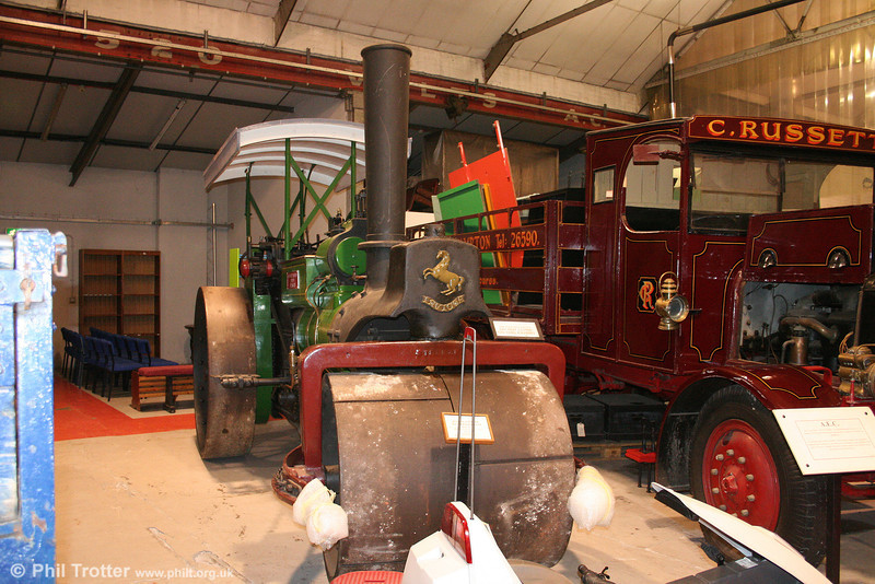 Swansea Museum has this 1914 Aveling & Porter road roller, NK 4562 at its Landore store, as seen on 14th July 2010.
