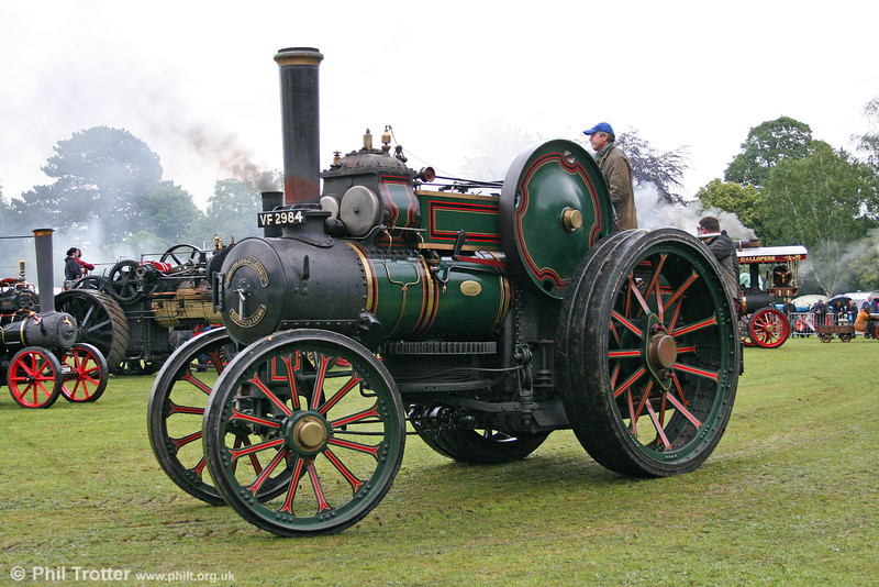 VF 2984, a 1918 Fowler (Works no. 14950) 7nhp 12 ton Traction Engine at Abergavenny on 30th May 2011.