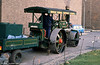 A rear view of 1927 Marshall Road Roller WW 3643 'Goolie' at Derby Industrial Museum in the 1980s.