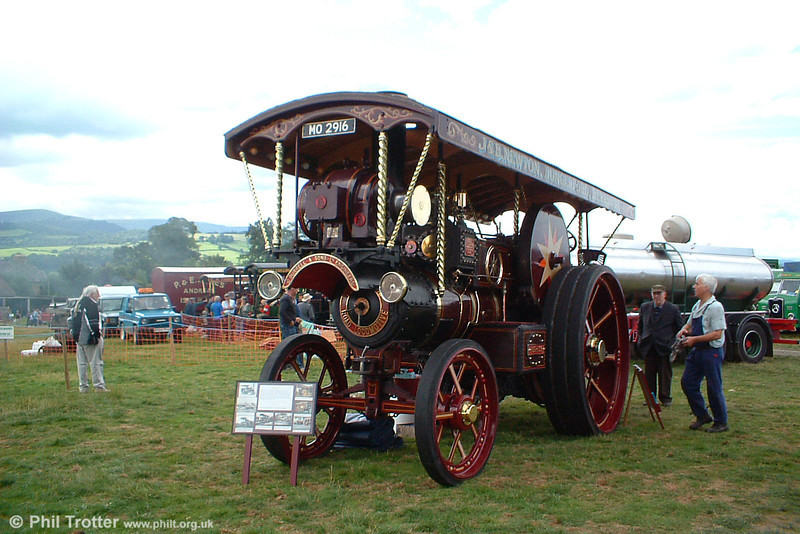 MO 2916 'Progress'. Burrell Showmans Road Locomotive no. 3950/1924. Exhibited on the makers stand at the Royal Show, Chester, in 1924. Engine has been owned by a variety of keepers in Wiltshire, Yorkshire and Cornwall. Three Cocks Vintage Rally, Hay on Wye, 14th August 2005.